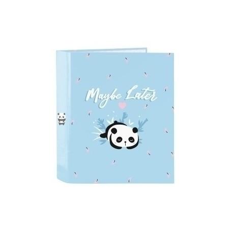 "Safta 2020 Vac (Junio)-Moos ""Panda"" Carpeta De 4 Anillas Carton Fº Lomo Ancho"