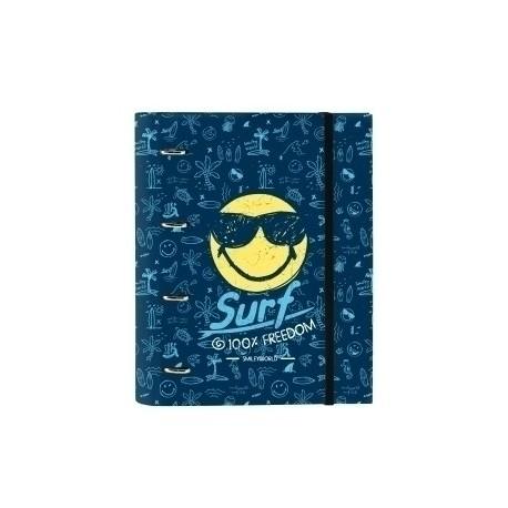 """Safta 2020 Vac (Junio)-Smiley World """"Surf"""" Carpebloc A4 4 Anillas 30 Mm Con Recambio"""