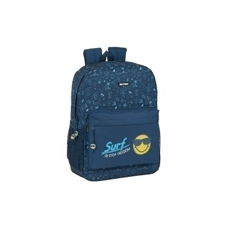 "Safta 2020 Vac (Junio)-Smiley World ""Surf"" Mochila Adaptable A Carro"
