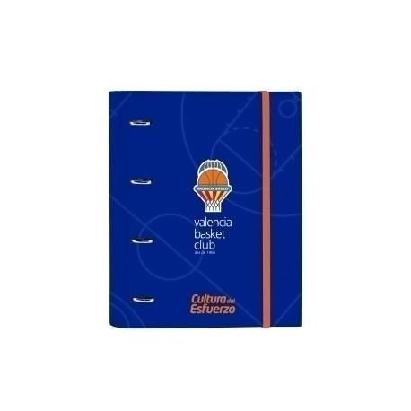 Safta 2020 Vac (Junio)-Valencia Basket Carpebloc A4 4 Anillas 30 Mm Con Recambio