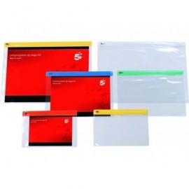 5* Sobres Zipp Paquete 30 ud A4 Colores surtidos Polipropileno 908692