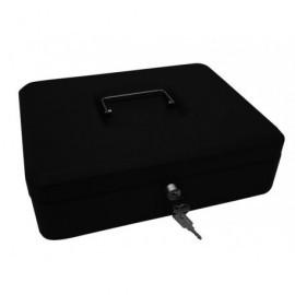 5* Caja de caudales Acero 30x24x9 cm Negro Cerradura con llave 918915