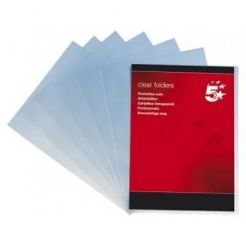 5* Dossier Caja 100 A4 Polipropileno Con uñero Transparente 80 micras 400005406