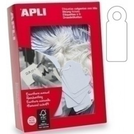 Etiquetas Manuales Colgantes Con Hilo Apli 28x43 Mm Caja 500 Uds. (00391)