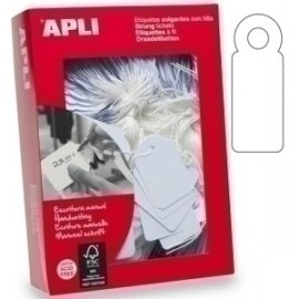 Etiquetas Manuales Colgantes Con Hilo Apli 45x65 Mm Caja 400 Uds. (00395)