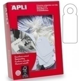 Etiquetas Manuales Colgantes Con Hilo Apli 50x70 Mm Caja 400 Uds. (00396)
