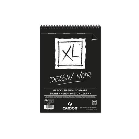 Block De Dibujo Guarro-Canson Xl Black (Espiral) 150g A3 40h Micro