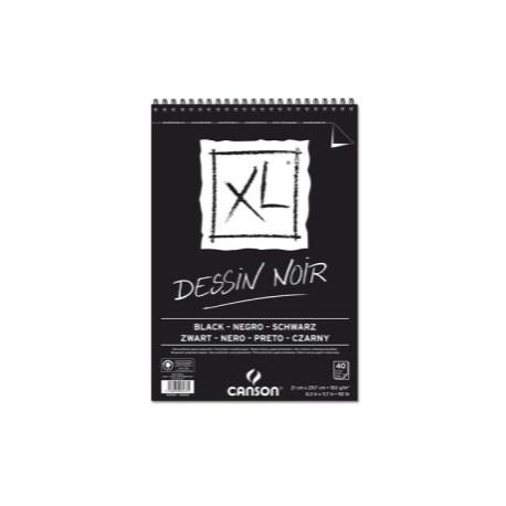 Block De Dibujo Guarro-Canson Xl Black (Espiral) 150g A4 40h Micro