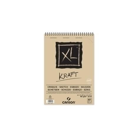 Block De Dibujo Guarro-Canson Xl Kraft (Espiral) 90g A4 60h Micro