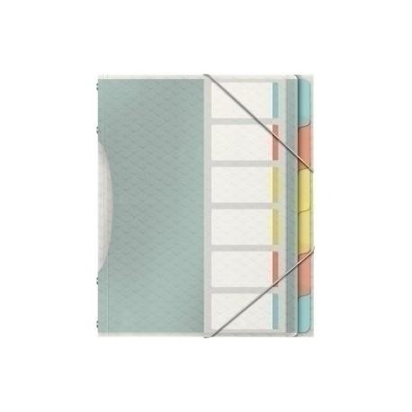 """Carpeta Clasificadora Esselte Colour""""Ice A4 Pp 6 Separad.Con Goma Surtido"""