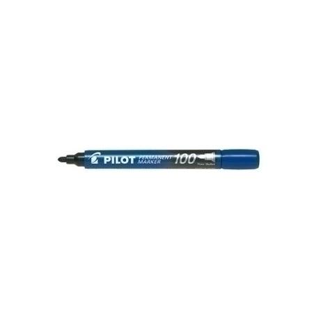 Marcador Permanente Pilot Marker Sca-100 Conico 1,0 Mm Azul