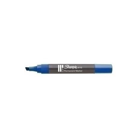 Marcador Permanente Sharpie W10 Biselado Azul