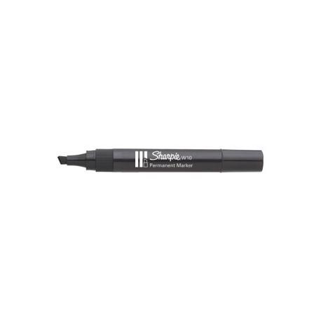 Marcador Permanente Sharpie W10 Biselado Negro