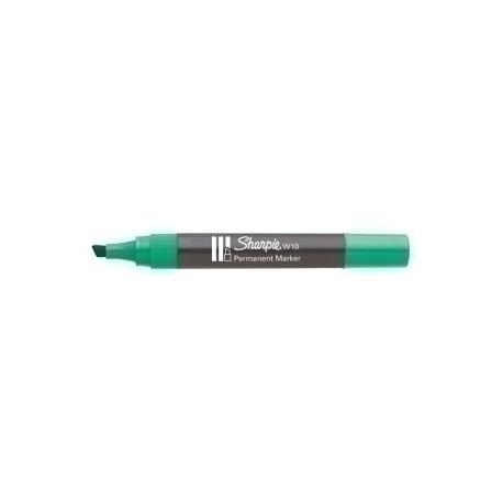 Marcador Permanente Sharpie W10 Biselado Verde