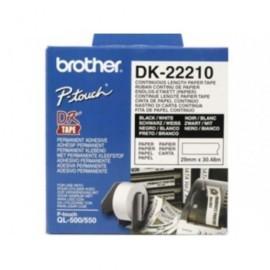 BROTHER Cintas rotulacion 29mmX30,48m Negro/Blanco Para DK22210 DK22210