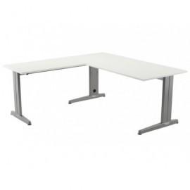 ROCADA Ala Mesa Rectangular Metal Aluminio-Blanca 100X60 2102Ac04
