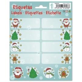 Etiquetas Navidad Erik Santa Cartoon