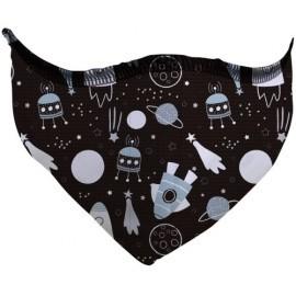 Mascarilla De Proteccion Reutilizable Infantil Fuli Talla S Space Negro