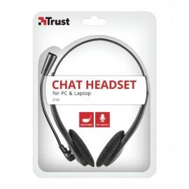 Auriculares Trust Ziva Chat 21517/ con Micrófono/ Jack 3.5/ Negro