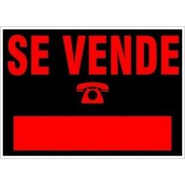 UNIPAPEL Cartel anunciador Se Vende 50X23 Negro y naranja PVC 6162NE
