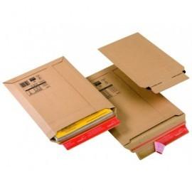 COLOMPAC Bolsas Paquete 20 ud 185X270X50 Carton extra B5 Tira siliconada Apertura superior CP01002