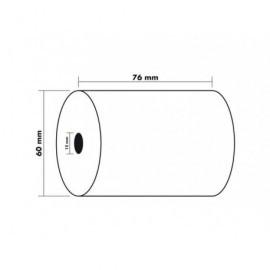EXACOMPTA Rollo de papelOffset Para sumadora 76x60 mm Mandril 12mm 40980E
