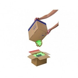 COLOMPAC Caja dispensadora material relleno 45L. fácil cierre y apertura SALF010104