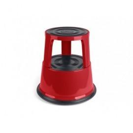 Taburete  2 peldaños Metálico Rojo 440x240mm