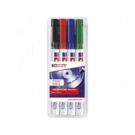 EDDING Marcador EDDINGing 8400 Estuche 4 ud Trazo 1mm Punta redonda Colores surtidos 8400-4-S