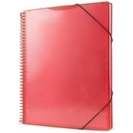 Carpeta Fundas (Tarifario) Pryse Pp Personalizable A4 60 F. Rojo