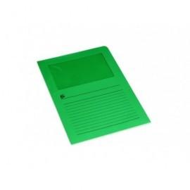 5* Subcarpetas Pack 50 ud Con ventana Verde oscuro 120 G IHI 422717