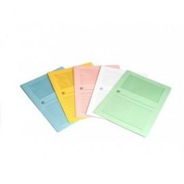 5* Subcarpetas Pack 50 ud Con ventana Colores surtidos suaves 120 G IHI 422727
