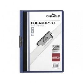 DURABLE Dossiers clip Duraclip Capacidad 30 hojas A4 Azul Oscuro PVC 2200-07