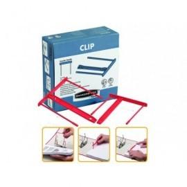 FELLOWES PACK DE 100 FASTENER PLASTICO DE 92MM DE CAPACIDAD COLOR ROJO REF.0089601