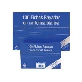 MARIOLA PACK 100 FICHAS RAYADAS CARTULINA DIMENSIONES 125X75 MM REF.3112R
