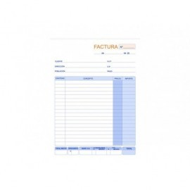 MARINO Talonario Factura 210 x 305 Duplicado Fº Natural   56/2