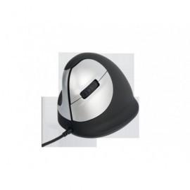 R-GO TOOLS Ratón con cable Vertical HE tamaño mediano zurdo usb negro/gris RGOHELE