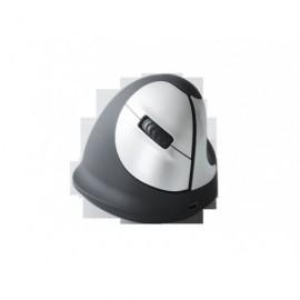R-GO TOOLS Ratón inalámbrico Vertical HE tamaño mediano diestro usb negro/gris RGOHEWL