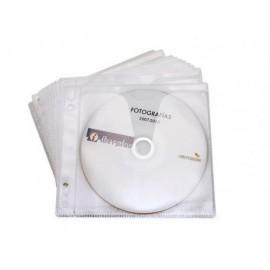 IBERPLAS Caja de 100 fundas porta CD/DVD con solapa de cierre 479D