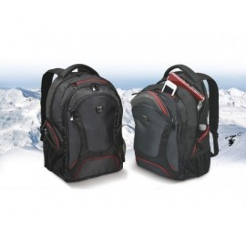 PORT DESIGNS Mochila Courchevel 17,3'' negro/rojo 160511