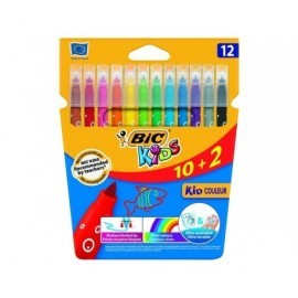 BICKIDS CAJA 10+2 ROTULADORES ULTRALAVABLES COULEUR 920294