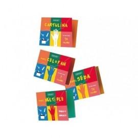 UNIPAPEL Bloc Manualidades 41 Hojas 10 cartulinas, 10 seda, 7 celofán, 4 metal. 10 charol 4785-PA