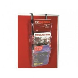 DEFLECTO EXPOSITOR COLGANTE 3 COMPARTIMENTOS FORMATO A4 VERT 387X180X105MM INCLUYE SOPORTES CP081YT