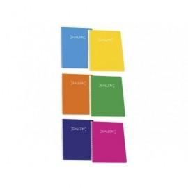 GALLERY cuaderno A4 tapa blanda 80 hojas cuadrícula 4x4 60 gramos colores surtidos