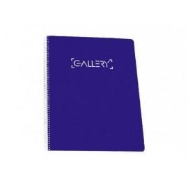 GALLERY CUADERNO A5 TAPA EXTRADURA 120 HOJAS MICROPERFORADO HORIZONTAL 90 GRAMOS