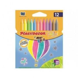 BIC ESTUCHE DE 12 PLASTIDECOR TONOS PASTEL 933961