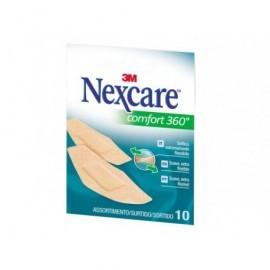 NEXCARE Tiras confort 360°,10 tiras,sellan la herida evita entrada de germenes y suciedadUU001559796