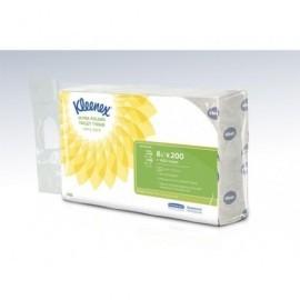 KLEENEX Paq. 8 recambios de 200 servicios de 18,6cm x 12,5cm de 2 capas, 100% fibras recicladas 8488
