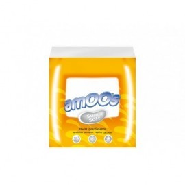 AMOOS Pack 100 servilletas 2 capas 22x22cm muy suaves 100% fibra pura T6220022