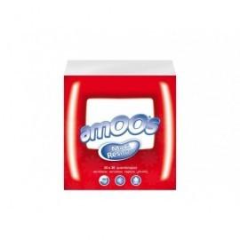 AMOOS Pack 100 servilletas 1 capa 30x30cm muy suaves 100% fibra pura T6210072